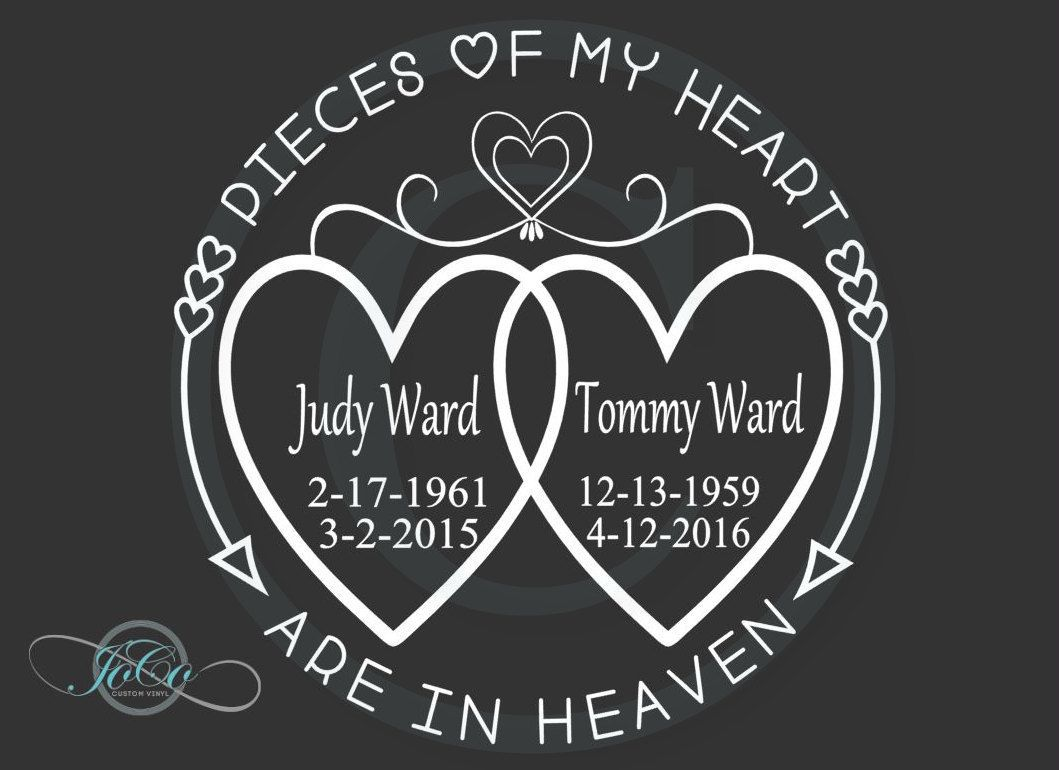 004 Imposing In Loving Memory Decal Template Picture  TemplatesFull