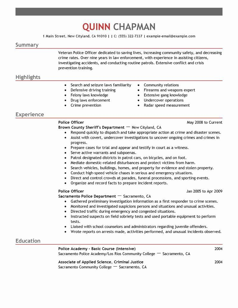 004 Imposing Law Enforcement Resume Template Concept  Federal PromotionFull