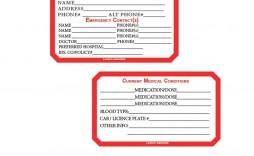 004 Imposing Medical Wallet Card Template Idea  Free Alert Canada Information