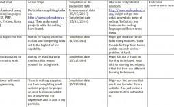 004 Imposing Personal Development Plan Template Excel Idea  Sample