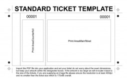 004 Imposing Print Ticket Free Template Sample  Your Own
