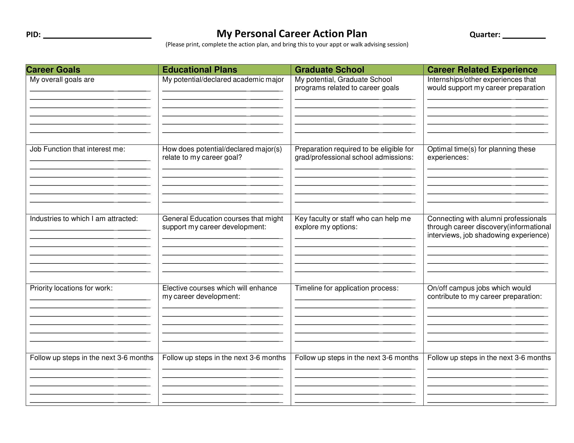 004 Imposing Professional Development Plan For Teacher Template Doc High Resolution Full