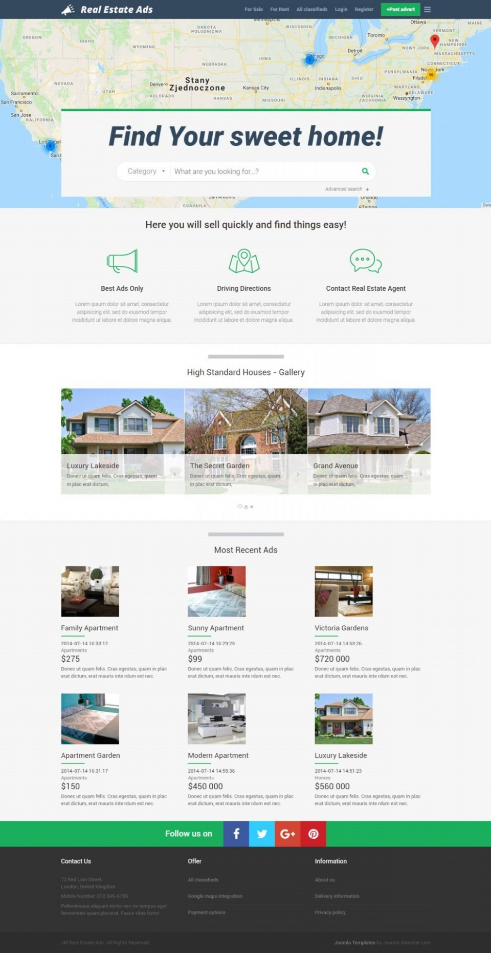 004 Imposing Real Estate Advertising Template High Def  Facebook Ad Craigslist960