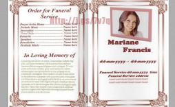 004 Imposing Sample Template For Funeral Program Concept