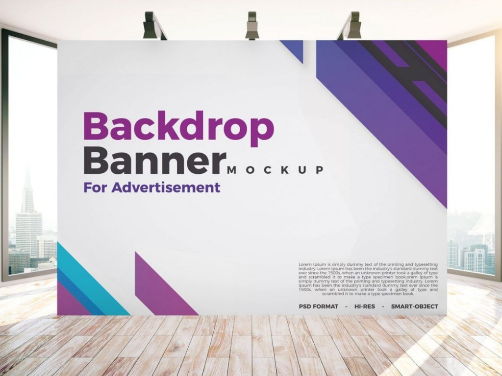 004 Imposing Step And Repeat Banner Template Psd Picture Large