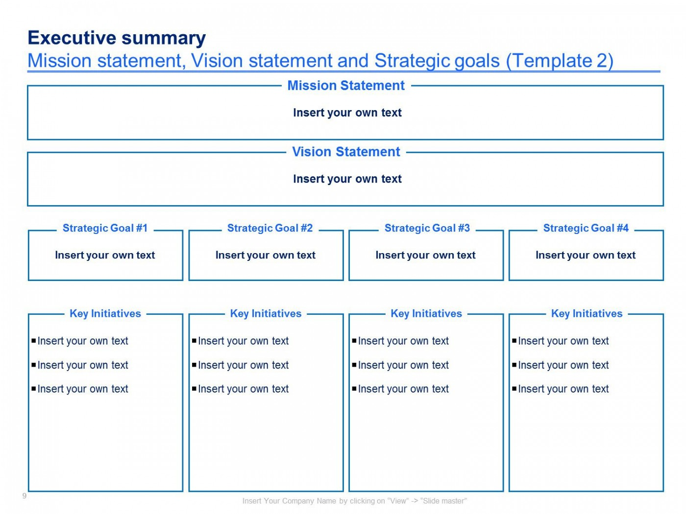 004 Imposing Strategic Plan Template Free Concept  Sale Account Excel1400