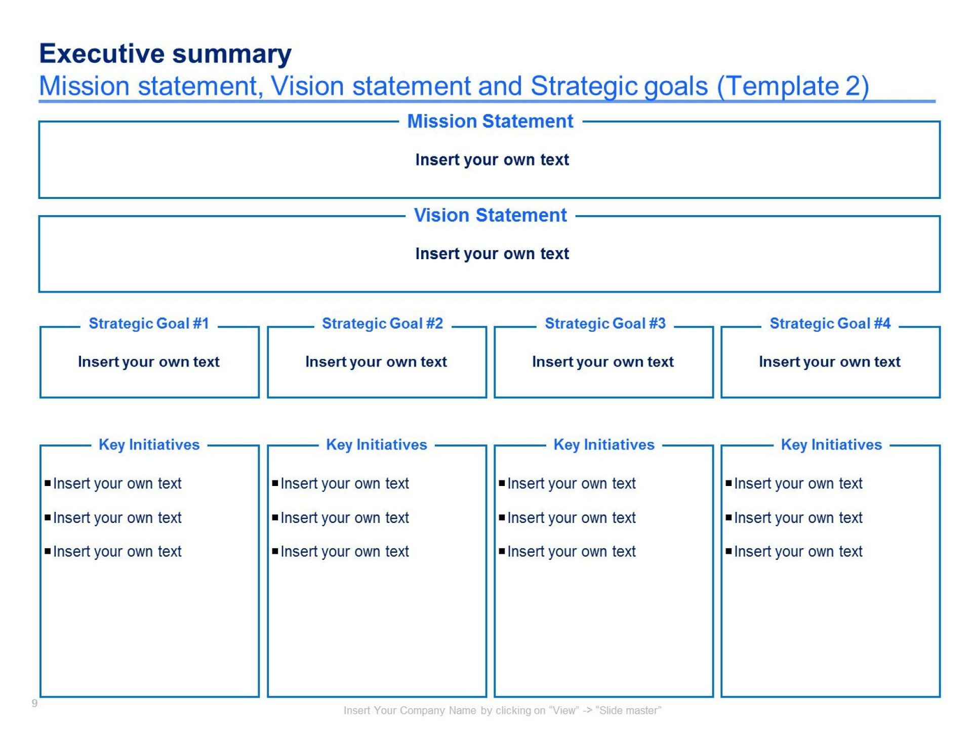 004 Imposing Strategic Plan Template Free Concept  Sale Account Excel1920