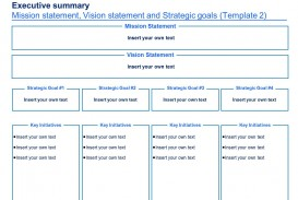 004 Imposing Strategic Plan Template Free Concept  Sale Account Excel