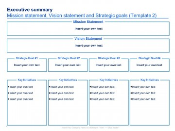 004 Imposing Strategic Plan Template Free Concept  Sale Account Excel360