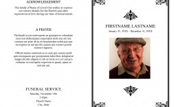 004 Imposing Template For Funeral Program On Word Example  2010 Free Sample Wording