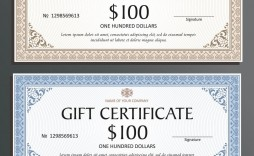004 Imposing Template For Gift Certificate Inspiration  Voucher Word Free Printable In