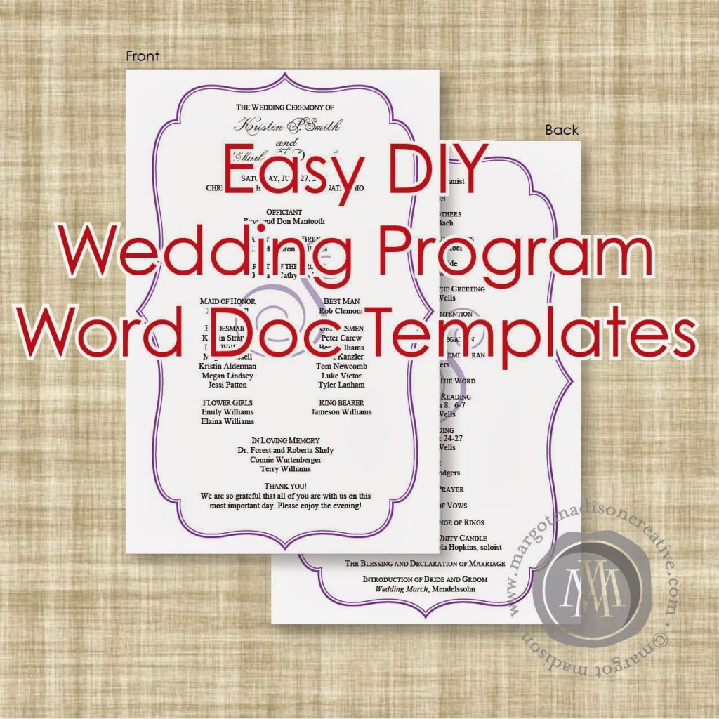 004 Imposing Wedding Program Template Word Picture  Catholic Mas Sample Wording Idea Example SimpleLarge