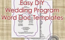 004 Imposing Wedding Program Template Word Picture  Catholic Mas Sample Wording Idea Example Simple