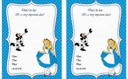 004 Impressive Alice In Wonderland Invitation Template Sample  Templates Wedding Birthday Free Tea Party