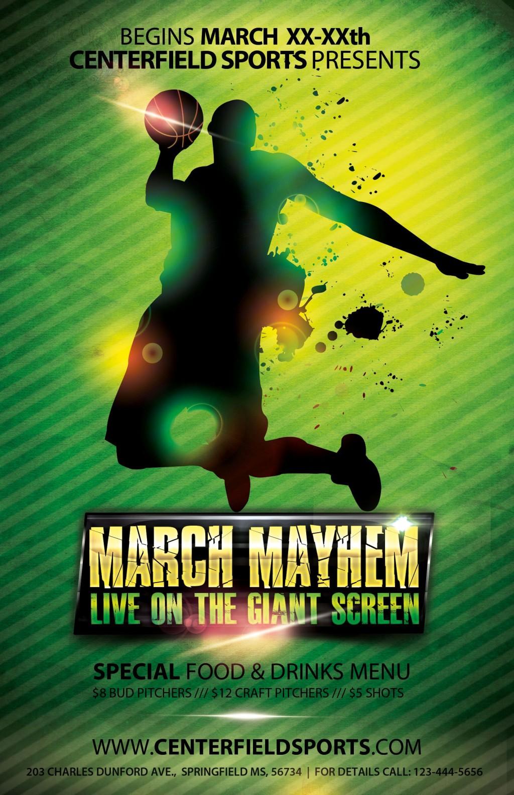 004 Impressive Basketball Flyer Template Free Sample  Brochure Tryout CampLarge