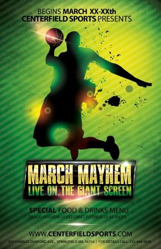 004 Impressive Basketball Flyer Template Free Sample  Brochure Tryout Camp320