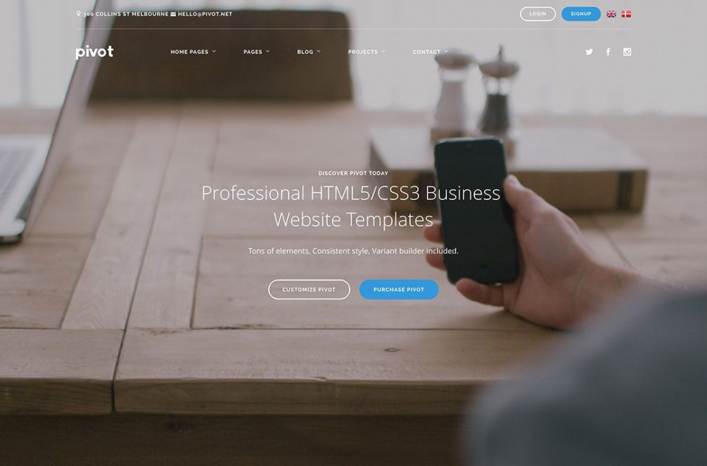 004 Impressive Busines Website Html Template Free Download Idea  With Cs CompanyLarge