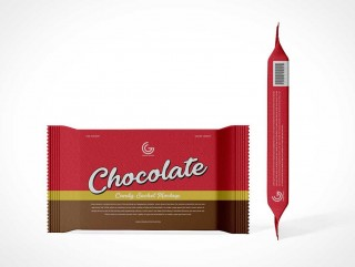 004 Impressive Candy Bar Wrapper Template Photoshop Design  Chocolate320