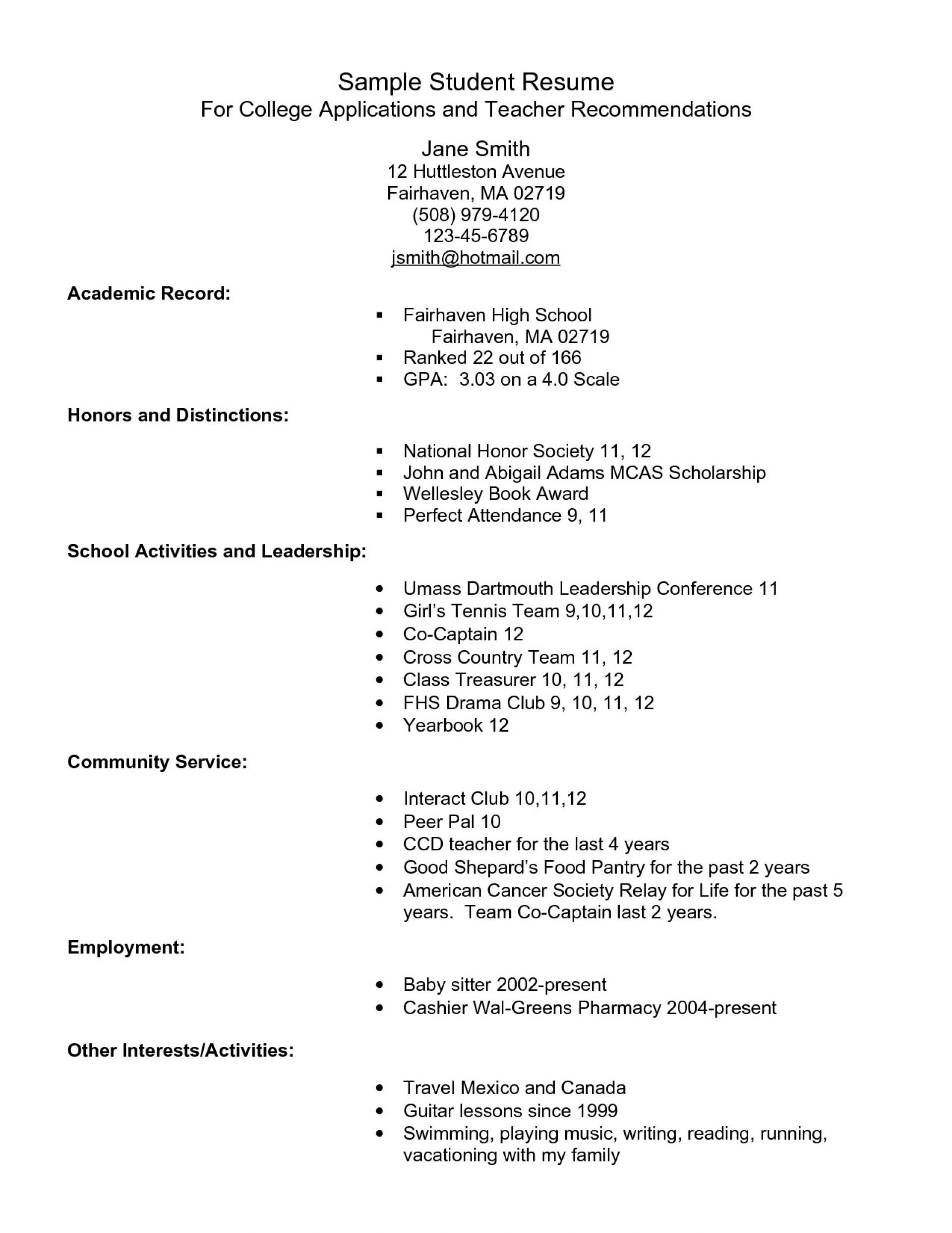 004 Impressive College Admission Resume Template Photo  Microsoft Word Application Download1920