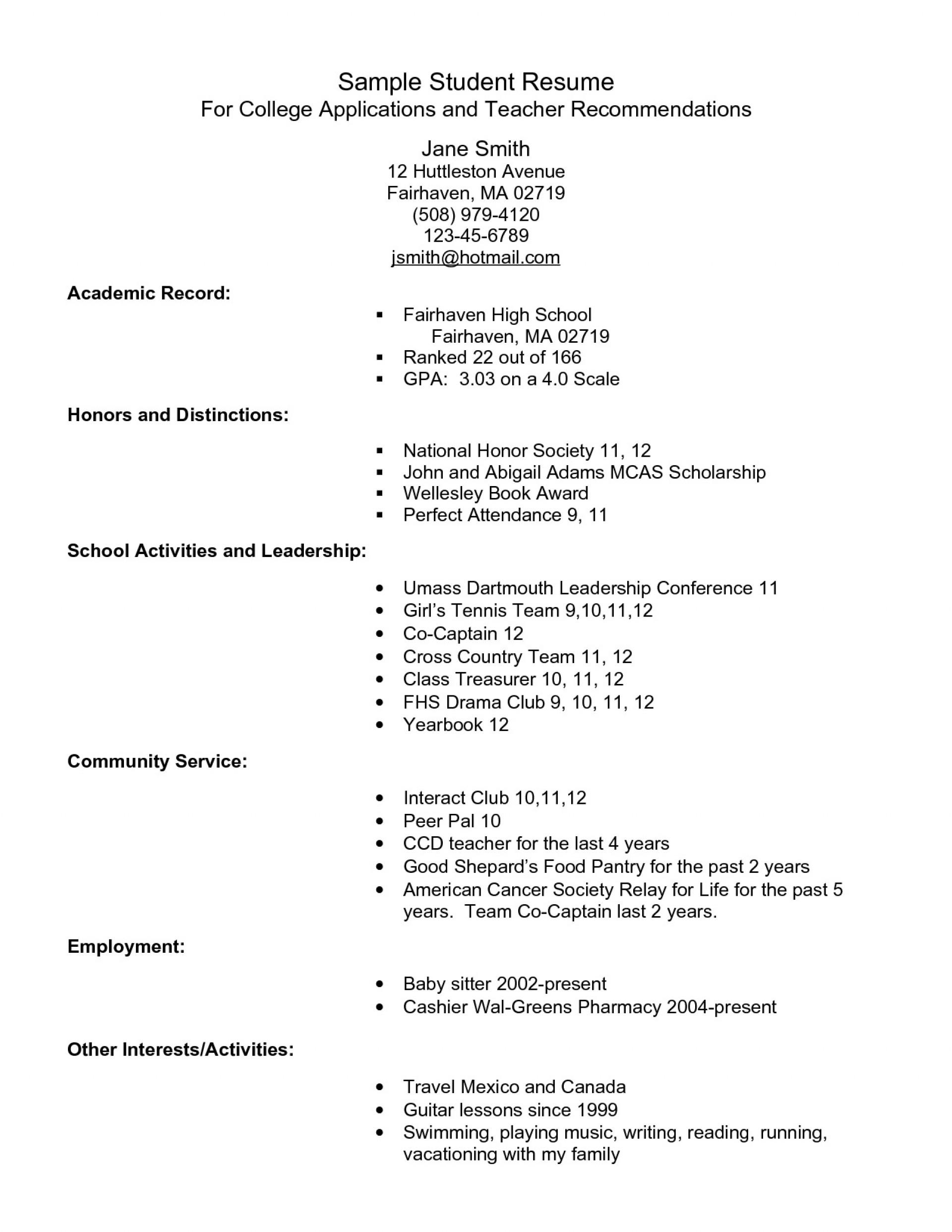 004 Impressive College Admission Resume Template Photo  Templates App Sample Application Microsoft Word1920
