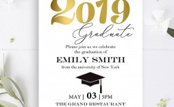 004 Impressive College Graduation Invitation Template Design  Templates Free Party