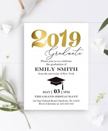 004 Impressive College Graduation Invitation Template Design  Free For Word Party360