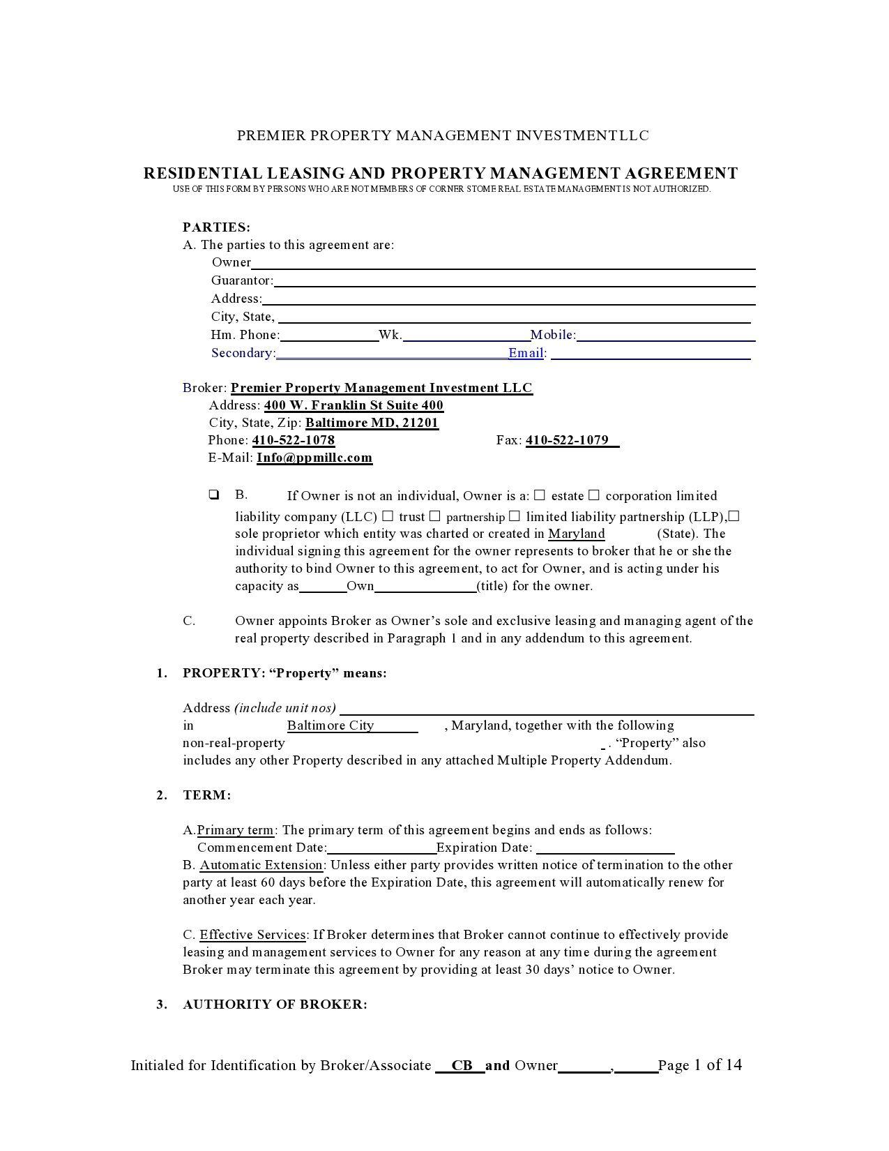 004 Impressive Commercial Property Management Agreement Template Uk Concept Full