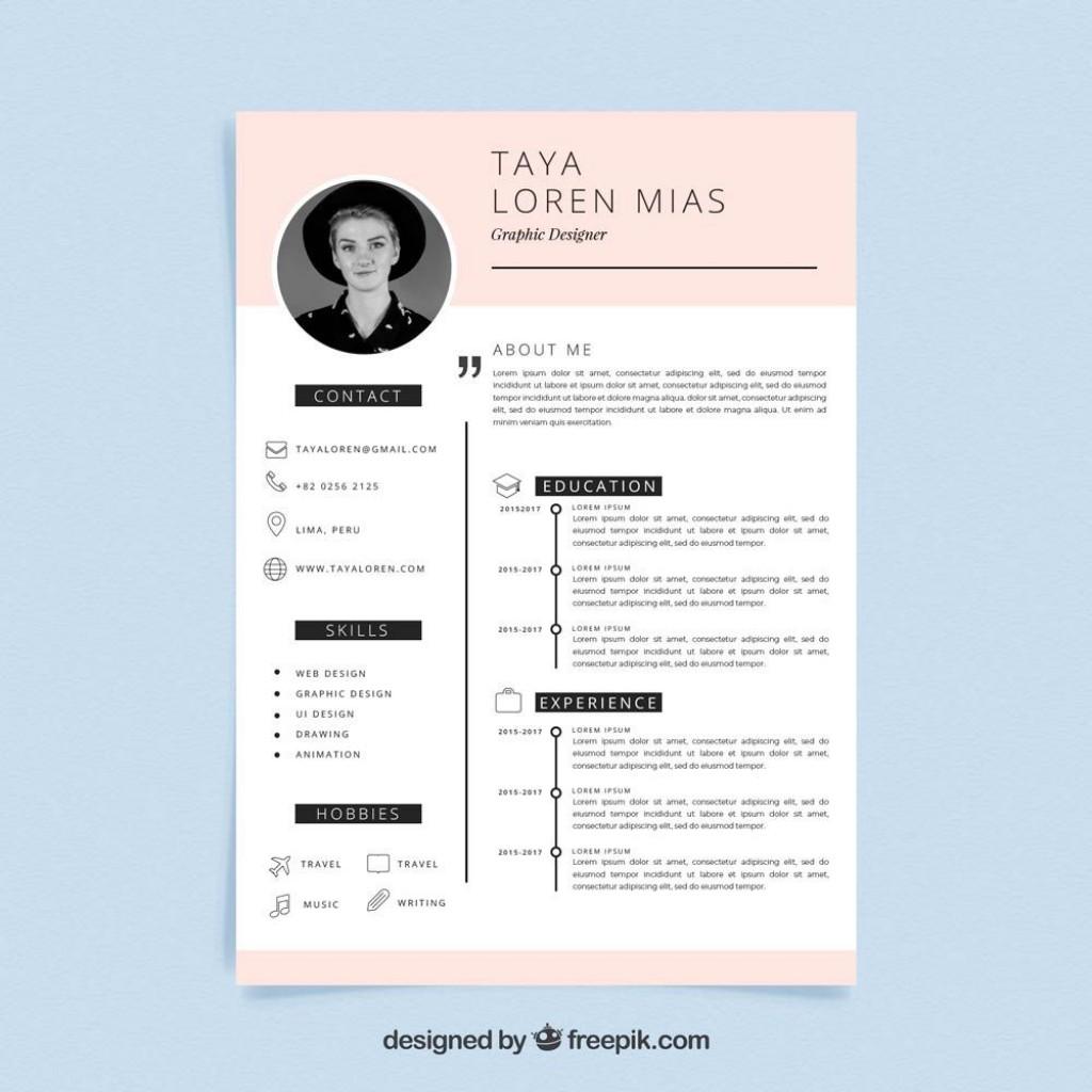 004 Impressive Creative Resume Template Freepik High Resolution Large