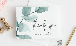 004 Impressive Diy Wedding Thank You Card Template Picture  Templates