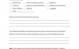 004 Impressive Employee Written Warning Template Image  Free Uk Hr
