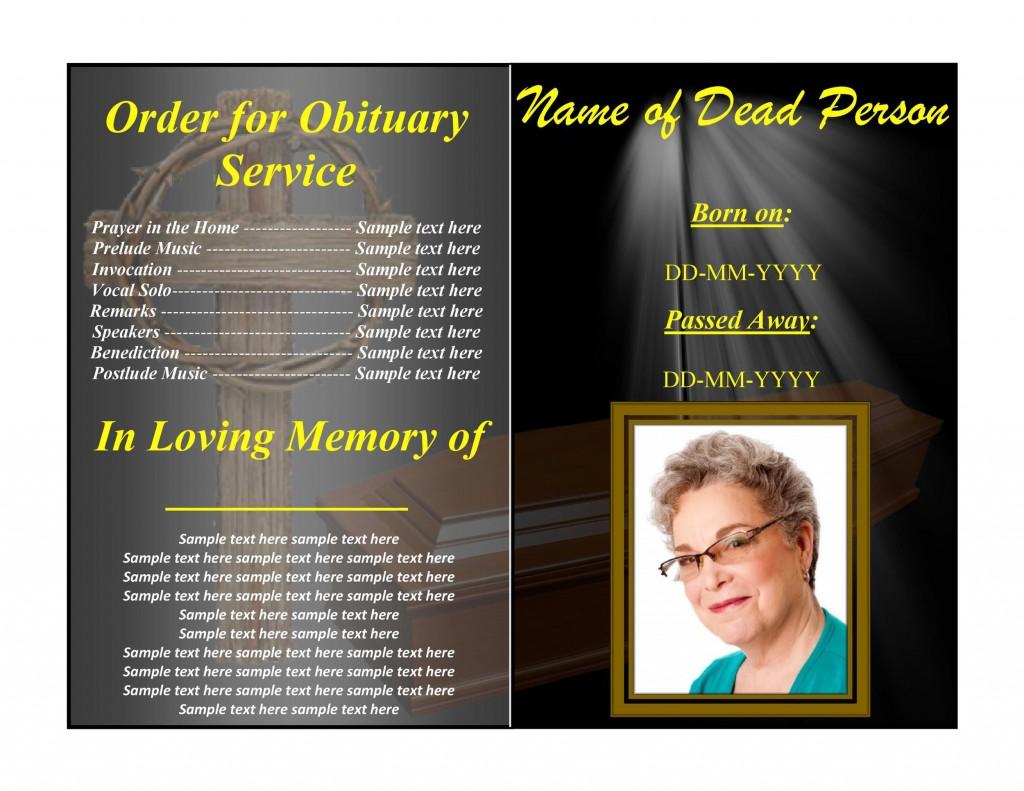 004 Impressive Example Funeral Programme Sample  Format Of Program Template Free To DownloadLarge