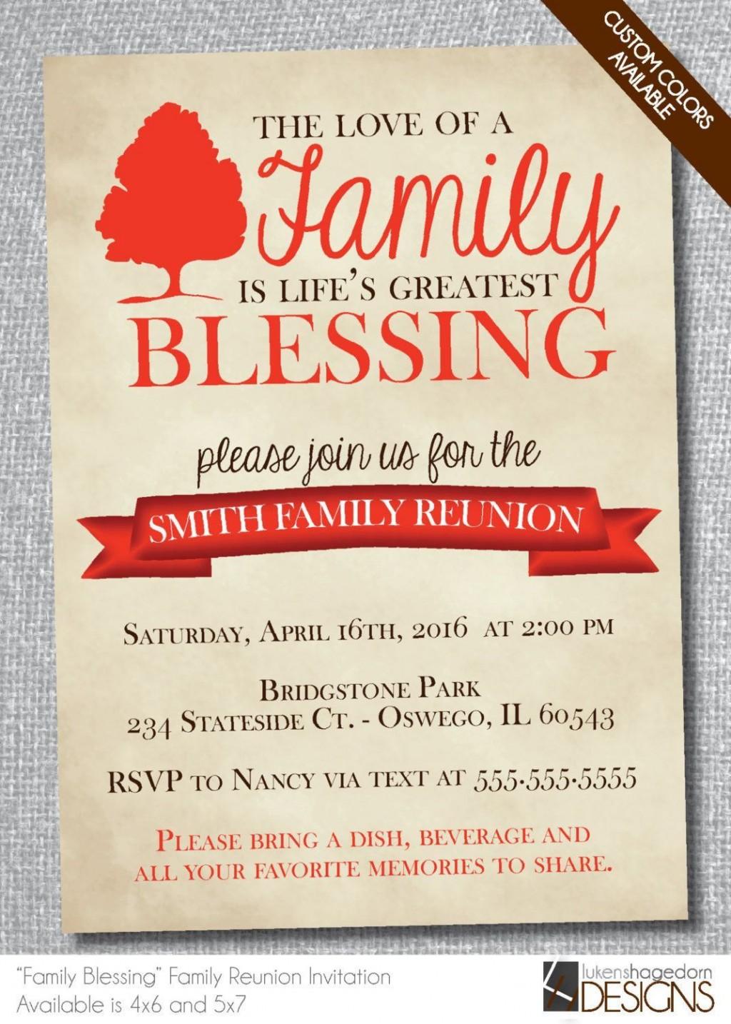 004 Impressive Family Reunion Flyer Template Free Sample  Downloadable Printable InvitationLarge