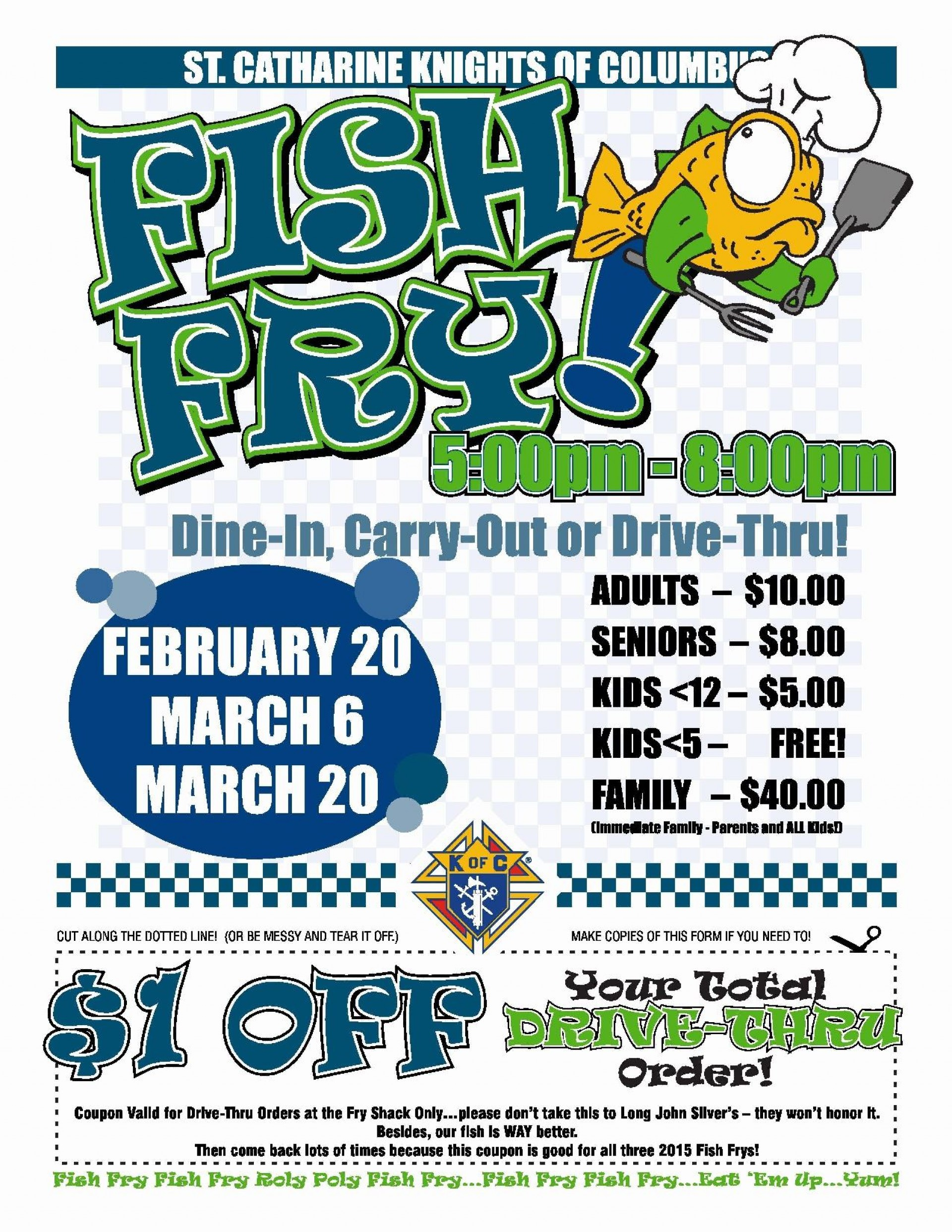 004 Impressive Fish Fry Flyer Template Picture  Printable Free Powerpoint Psd1920