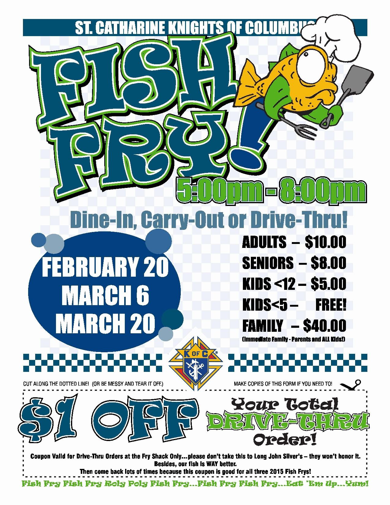 004 Impressive Fish Fry Flyer Template Picture  Printable Free Powerpoint PsdFull