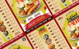 004 Impressive Food Menu Card Template Free Download Idea