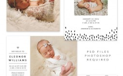 004 Impressive Free Baby Announcement Template Picture  Templates Boy Photoshop Printable Shower Invite
