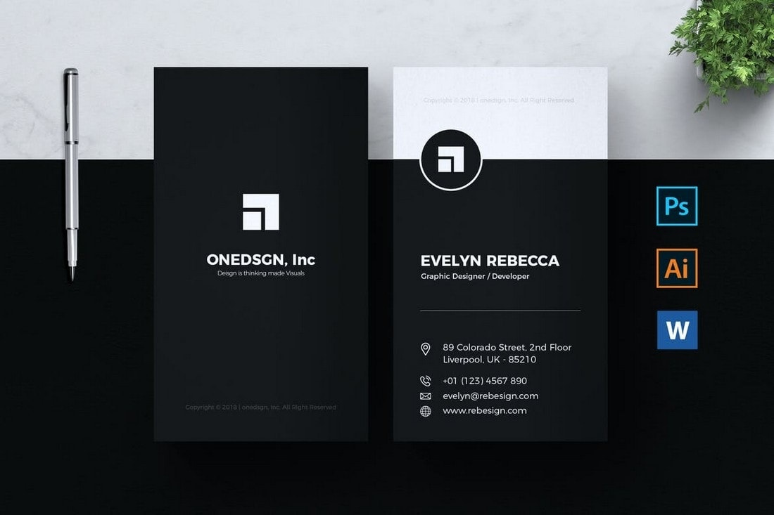 004 Impressive Free Busines Card Design Template Example  Templates Visiting Download Psd PhotoshopFull