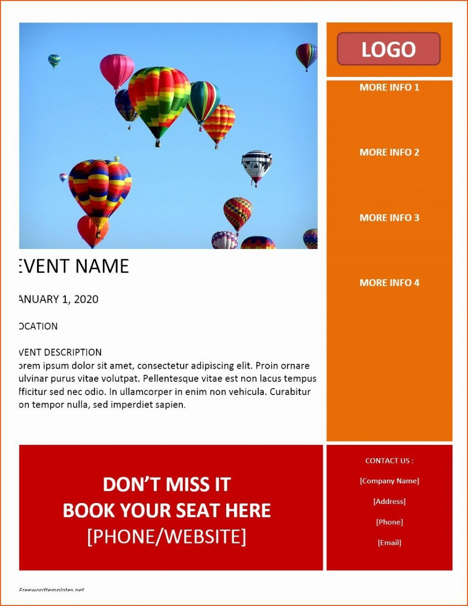 004 Impressive Free Flyer Template Word Image  Document Blank Download960