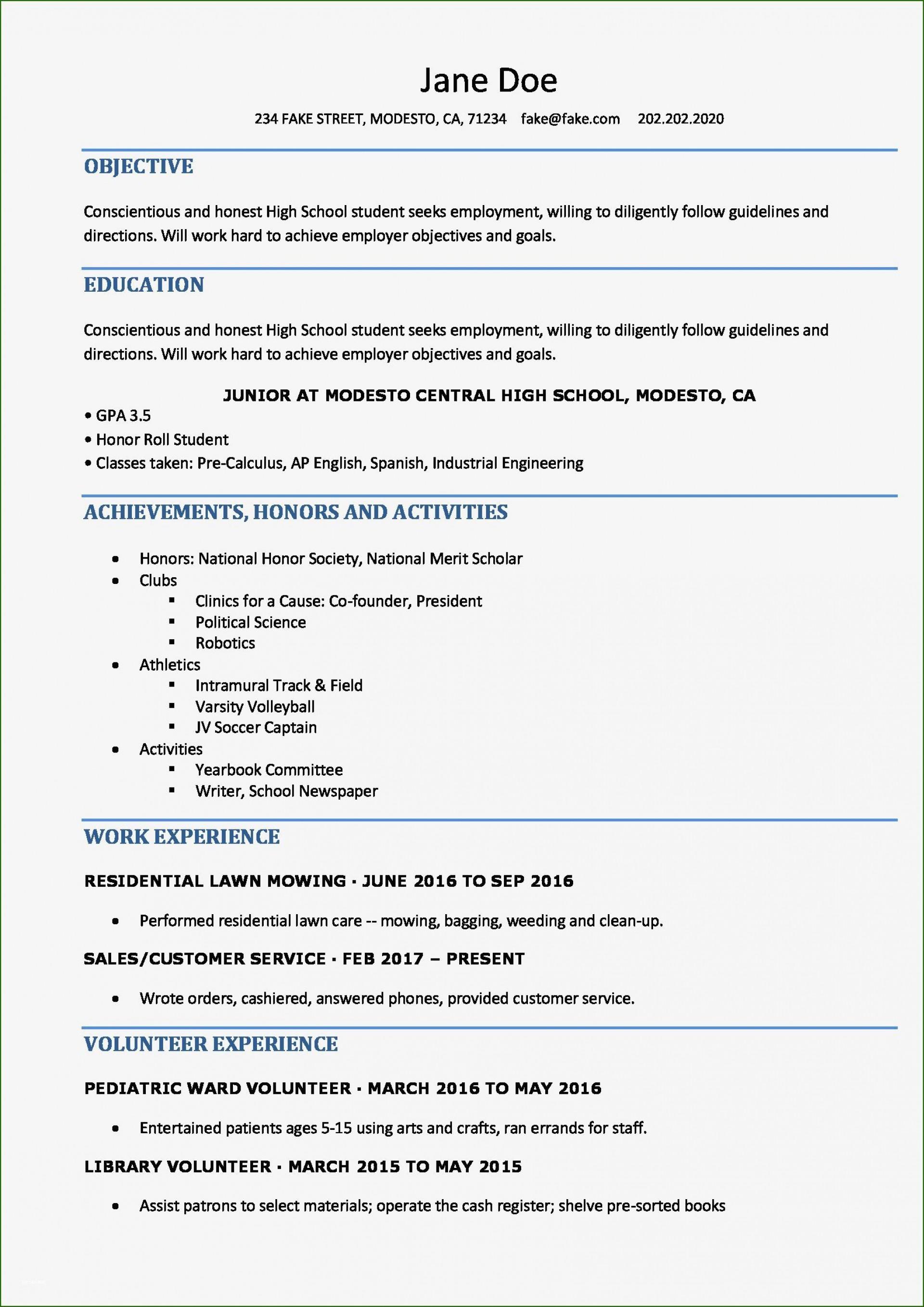 004 Impressive Free High School Resume Template Word Concept  Student1920