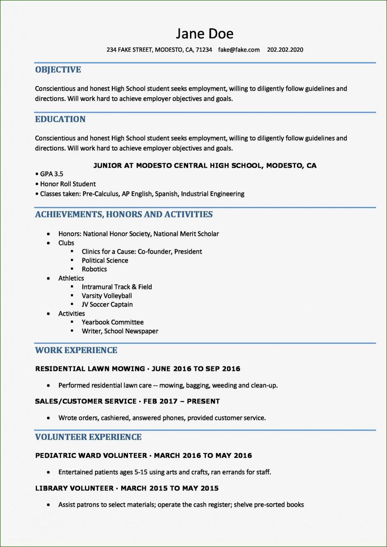 004 Impressive Free High School Resume Template Word Concept  Student