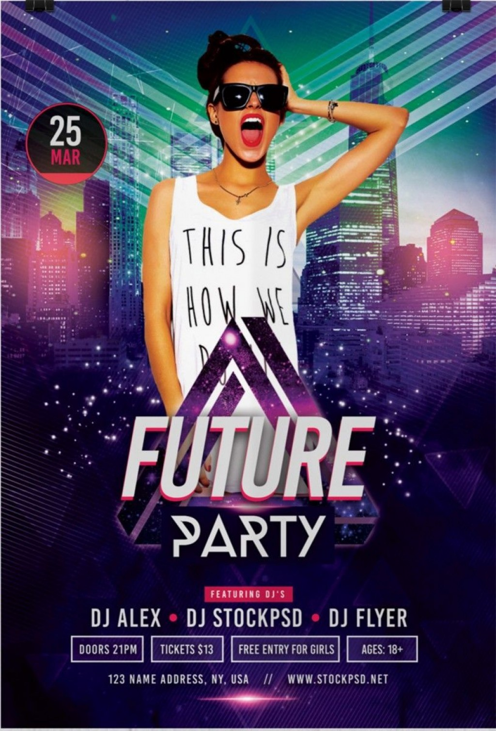 004 Impressive Free Party Flyer Template For Mac Design Large