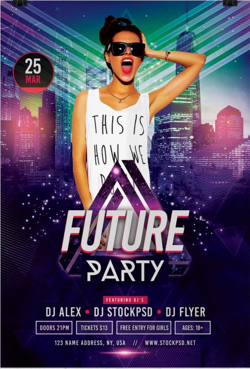 004 Impressive Free Party Flyer Template For Mac Design Full