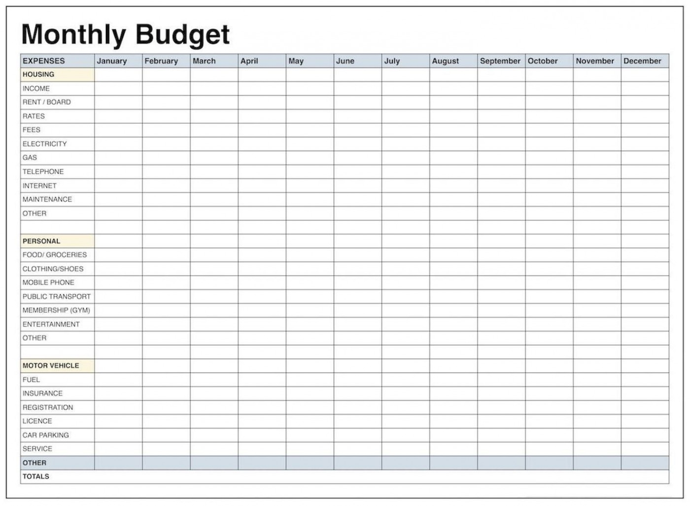 004 Impressive Free Printable Blank Monthly Budget Template Idea 1400