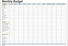 004 Impressive Free Printable Blank Monthly Budget Template Idea