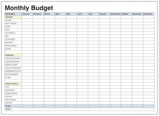 004 Impressive Free Printable Blank Monthly Budget Template Idea 320