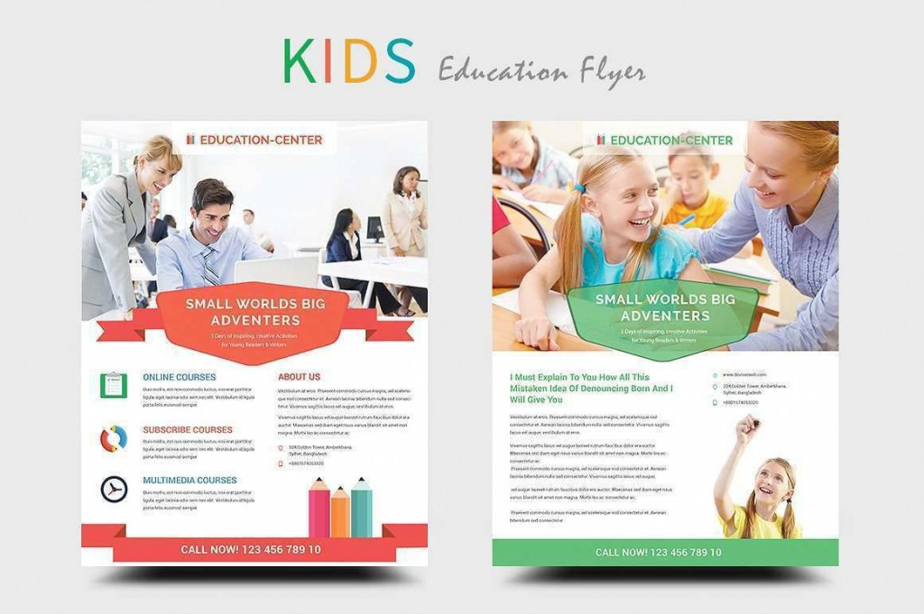 004 Impressive Free School Flyer Template Word Photo  For Microsoft Education Back ToLarge