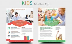 004 Impressive Free School Flyer Template Word Photo  For Microsoft Education Back To