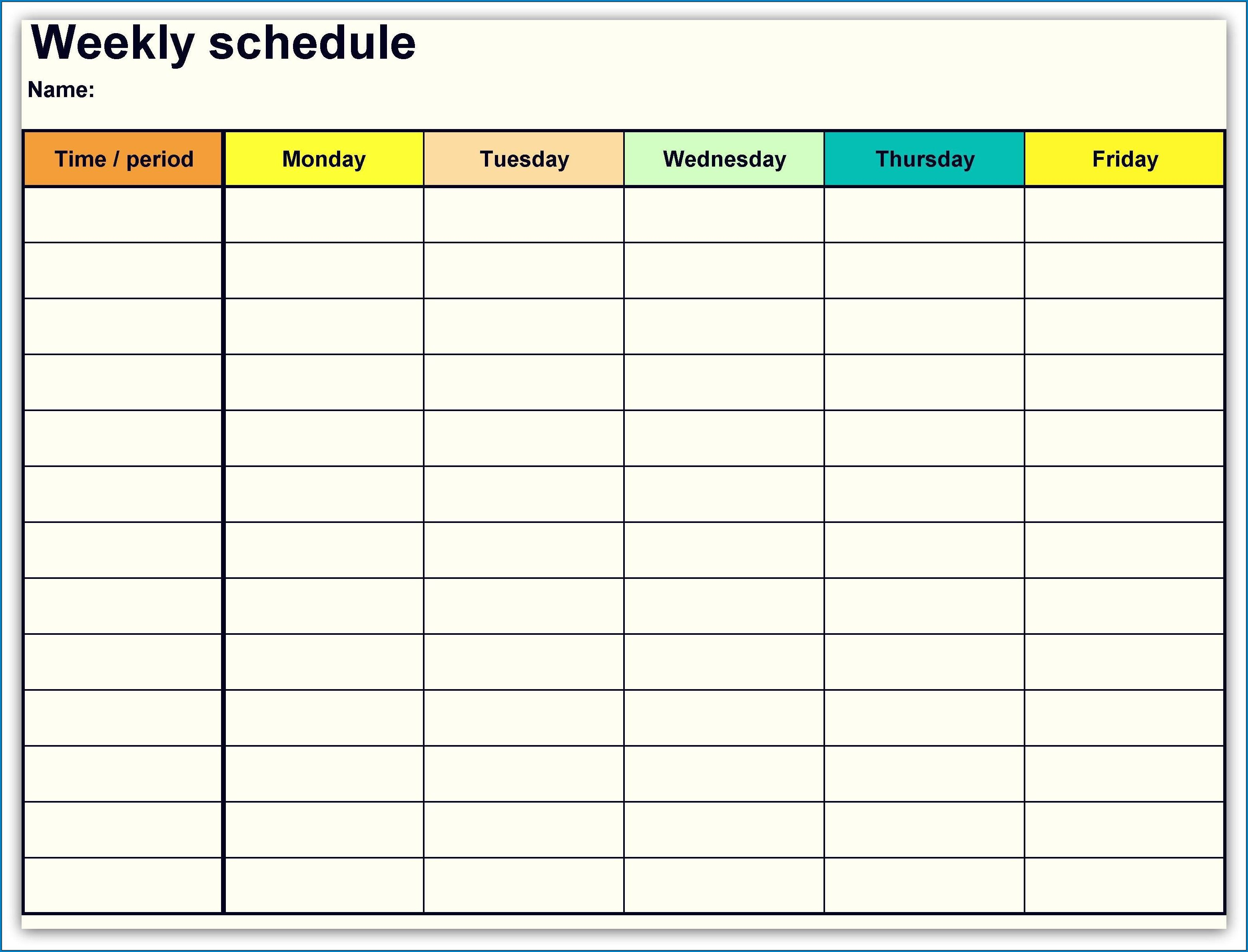 004 Impressive Free Weekly Calendar Template Image  Printable With Time Slot 2019 WordFull
