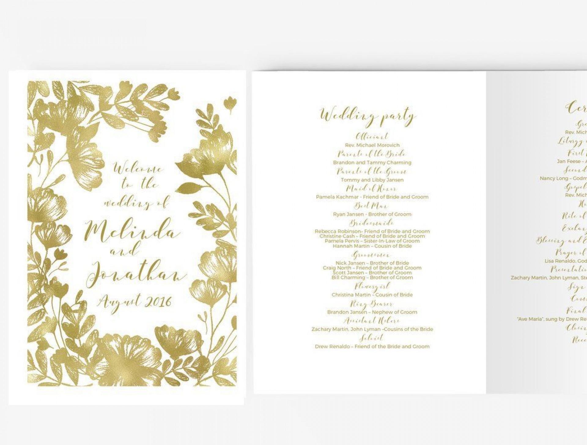 004 Impressive Free Word Template For Wedding Program Highest Quality  Programs1920