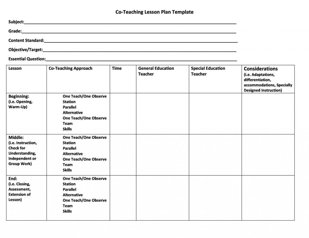 004 Impressive Lesson Plan Template For Preschool Picture  Format Teacher Free PrintableLarge